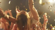 Girl stage diving