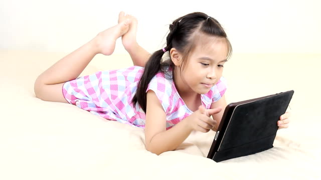 Girl using Digital tablet.