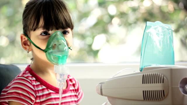 Girl with Asthma Inhaler