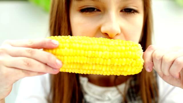 girl with corn