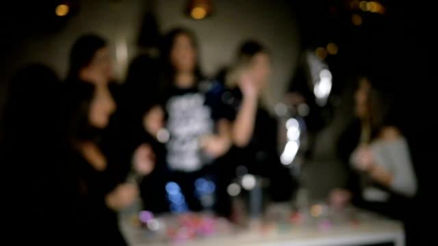 Girls dancing - blurred