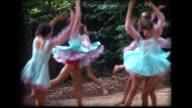 1968 girls in green dresses rehearse dance