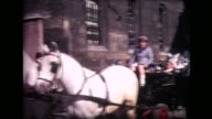1968 girl's short ride on horse-drawn carriage