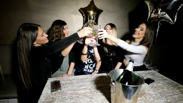 Girls toast