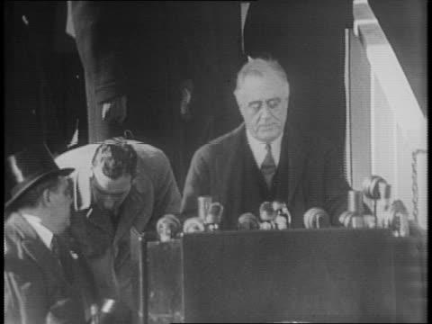 FDR gives third inaugural address