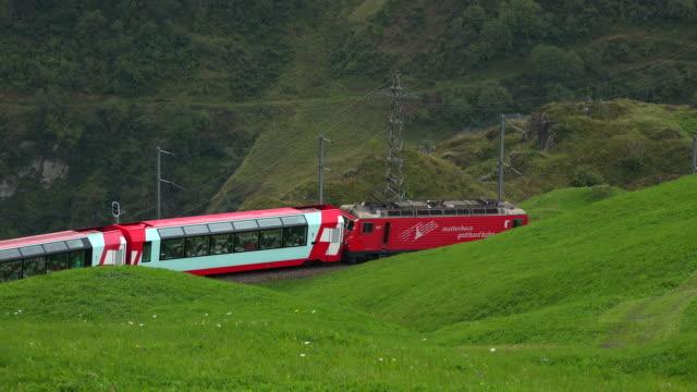Glacier Express near Andermatt, Canton Uri, Switzerland, Europe