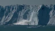 glacier wall calving