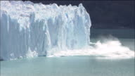 Glaciers calve into sea, Patagonia