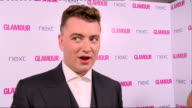 Winner's room Sam Smith as interviewed on red carpet / Sam Smith interview SOT on having a number one album / looking forward to Glastonbury / Sharon...