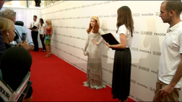red carpet arrivals Kylie Minogue posing and speaking to press / Paloma Faith posing / Katherine Jenkins posing / Jessie J posing / Jenkins speaking...