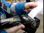 Glasgow woman nets £28000 in parking fines ITN Glasgow Parking ticket under windscreen wiper of car PULL OUT PAN i/c CS Sign indicating position of...