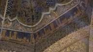 LA, PAN, CU, Glass mosaic on ceiling of Great Mosque of Cordoba, Cordoba, Andalusia, Spain