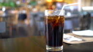 glass of iced cola