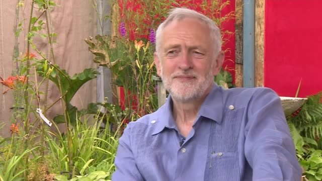 Jeremy Corbyn interview ENGLAND Somerset Glastonbury festival EXT Jeremy Corbyn MP interview SOT