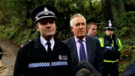 general views / press conference / Peter Hain interview Superintendent Phil Davies South Wales Police press conference SOT Dynamic ongoing search and...