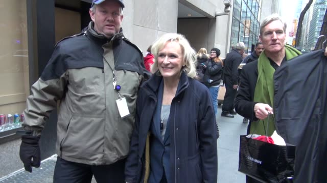 Glen Close leaving the Today Show 01/25/12 in Celebrity Sightings in New York
