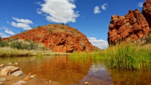 Glen Helen Gorge in Finke River Northern Territory, Australia