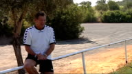 Glen Hoddle Academy for young footballers in Spain players training and competing in friendly match / Glen Hoddle interview Glen Hoddle interview SOT...