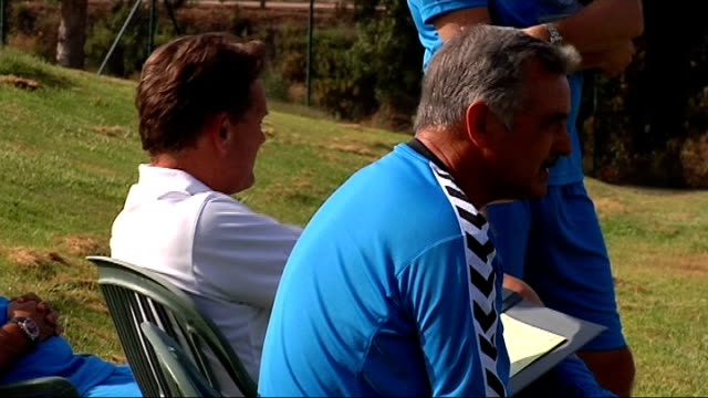 Glen Hoddle Academy for young footballers in Spain players training and competing in friendly match / Glen Hoddle interview Southern Spain Young...