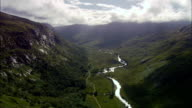 Glen Kinglass  - Aerial View - Scotland, Argyll and Bute, United Kingdom