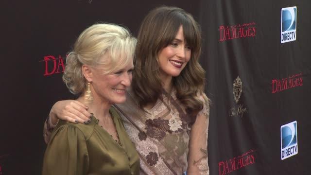 Glenn Close and Rose Byrne at the 'Damages' Season 4 Premiere at New York NY