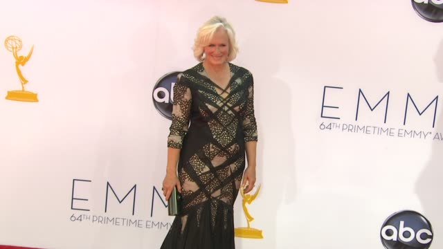 Glenn Close at 64th Primetime Emmy Awards Arrivals on 9/23/12 in Los Angeles CA
