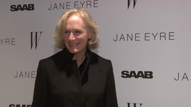 Glenn Close at the 'Jane Eyre' New York Premiere Arrivals at New York NY