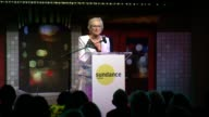SPEECH Glenn Close congratulates Damien Chazelle on his Sundance Institute Vanguard Award received tonight talks about Sundance as one of Robert...