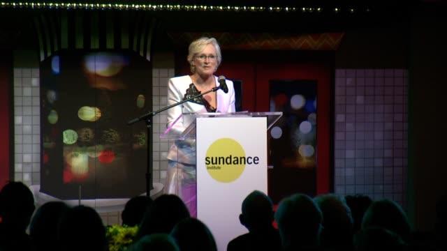 SPEECH Glenn Close congratulates Damien Chazelle on his Sundance Institute Vanguard Award received tonight talks about Sundance as one of Robert...