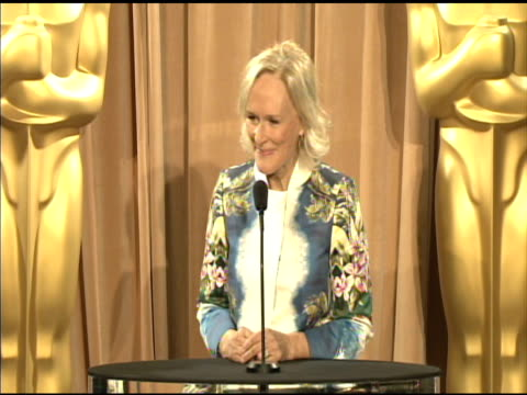 Glenn Close on the influential power of films at the 84th Academy Awards Nominations Luncheon in Beverly Hills CA on 2/6/12