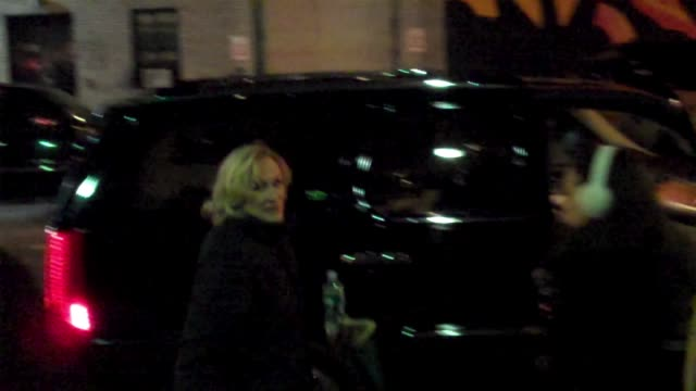 Glenn Close visits 'Late Show With David Letterman' at the Celebrity Sightings in New York at New York NY