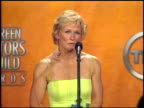Glenn Close winner of Outstanding Female Actor in a TV Movie or Miniseries for 'The Lion in Winter' at the 2005 Screen Actors Guild SAG Awards press...