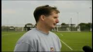 Glenn Roeder Glenn Hoddle being interviewed by press ENGLAND Essex West Ham Training Ground EXT Glenn Roeder being interviewed by press R28090102