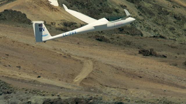 2010 AERIAL Glider flying over mountainous area/ Santiago de Chile, Gran Santiago, Chile