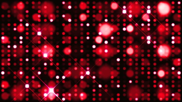Glitter Spots Red Background Loop