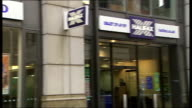 General views of Halifax bank ENGLAND London EXT Good shots showing general views of Halifax bank branch with name 'Bank of Scotland' PAN to close...