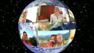 HD-LOOP MONTAGE: Global Multi ethnischen Video Conference