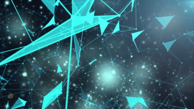 global network concept motion,blue color