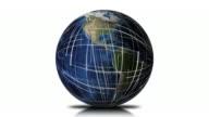 Rete globale di terra sfondo Loop