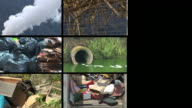 HD LOOP MONTAGE: Global Pollution