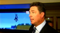 Global Sport Summit Dan Marino interview Marino interview SOT Talks about globalisation of American Football and thinks it's great / Talks about the...