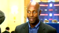 Global Sport Summit Jerry Rice interview ENGLAND London Landmark Hotel INT Interview with Jerry Rice SOT Fantstic for NFL game between New Orleans...