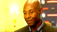 Global Sport Summit Jerry Rice interview Rice interview SOT Talks about playing in wet conditions / Thinks it would take lot of hard work for anyone...