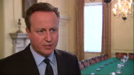 Global Support As Belgium Mourns Victims of Airport and Metro Attacks Showing Interior interview British Prime Minister David Cameron speaks...