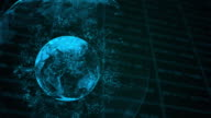 global technology concept animation,blue background