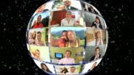 HD-LOOP MONTAGE: Global Video Conference