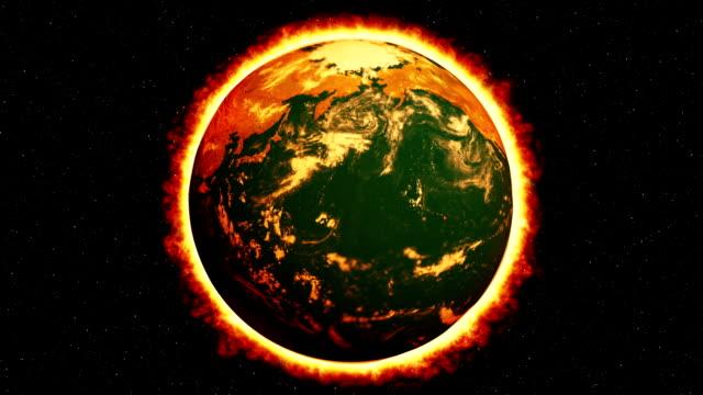 Global Warming Burning Earth