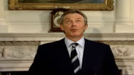 Global warming/ UK signs up to climate change targets Austin asking Blair about his energy efficiency SOT Blair interview SOT The room we are in has...