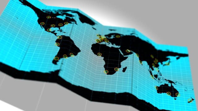 Global World Map Network Connections Communication