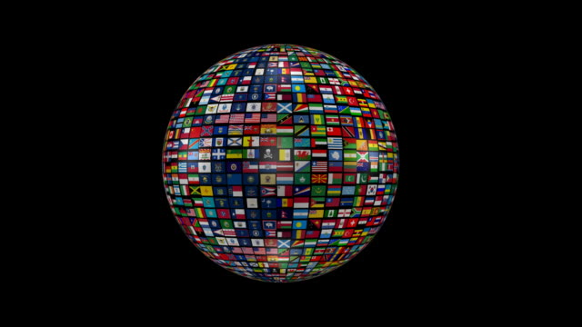 Globe made of all national flags